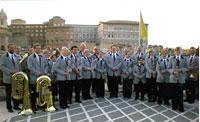 Musikverein Concordia Friesenhagen auf der Terrasse der Residenza Paolo VI