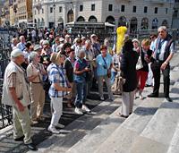 Auf der Treppe von S. Maria Maggiore